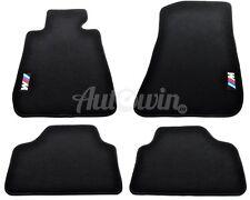 BMW 1 Series E81 116d 116i 118d 188i Black Carpets With /// M Emblem Logo LHD