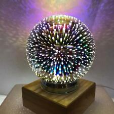 3D LED Desk Lamp Night Light Magic Ball Starry sky  Fireworks Gift  Decor