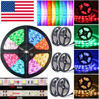 5M 10M 20M 30M Waterproof 3528 5050 SMD RGB 300 LED Strip Light Rope Tape Roll