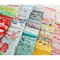 100Pcs Floral Cotton Fabric Bundle Patchwork Scraps Quilting Sewing Crafts DIY
