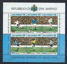 SAN MARINO 1990 SG MS1373 World Cup Football Championship Mini Sheet Mint MNH