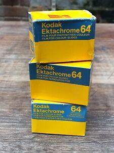Kodak Ektachrome 64  for colour slides sealed, dated 1982 & 1985