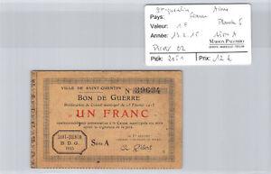 France Jock St Quentin - 1 Franc 13.2.15 Board 5 - Pirot 02 N° 39634