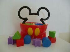 🌟 Jouet Mickey Avec Cube D'éveil Apprendre Les Formes & Les Couleurs Complet
