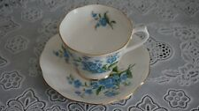 VINTAGE Royal Albert Bone China Cup and Saucer, Forget-Me-Not Pattern, England