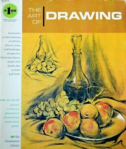 The Art of Drawing 1965 How To Instruction Grumbacher Library Book Walter Brooks