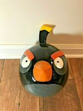 Angry Birds Black BOMB Bird Bank Ceramic Coin Piggy Bank, 2009 Retired
