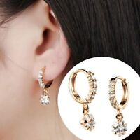 Gift Elegant Women Cubic Inlaid Drop Earrings Jewelry Accessories Earring