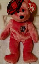 TY Charitee PGA Tour Golf Orange Beanie Baby with red plaid cap Reborn lovey