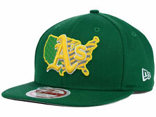 Oakland Athletics New Era MLB USA Reflective 9FIFTY Flat Snap-back Green Cap