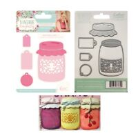 Crafter's Companion Cutting Dies Mason Jar,Labels,Made with Love Metal Die Cut