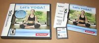 Let's Yoga for Nintendo DS Complete Fast Shipping!