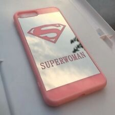 Cute Superwoman HD mirror case compatible with iPhone 6 Plus / 6s Plus - Pink