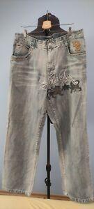 Dada Supreme Mens Vintage Denim Jeans Trousers Baggy Fit 38x34 W38 34L 90s