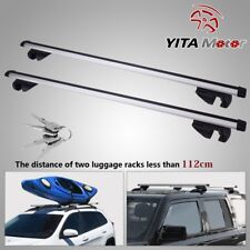 "48"" Universal Aluminum Car Top Roof Rack Cross Bar Pair For Cargo Luggage"
