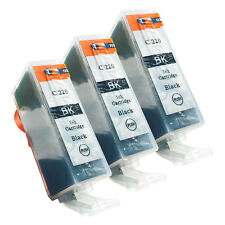 3 BLACK PGI-220 NEW Ink Cartridges for Canon Pixma MX860 MX870 MP560 with CHIP