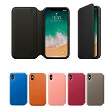 Genuine Leather Folio Abatible Billetera Estuche Cubierta para Apple iPhone 10 X 8 7 6 Plus 6s
