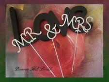 NEW RHINESTONE MR & MRS  CAKE TOPPER WEDDING ENGAGEMENT ANNIVERSARY