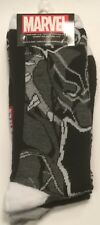 Two pairs Black Panther Crew Socks Men 6-12 Marvel Universe AVENGERS new