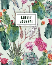 Bullet Journal: Beautiful Cactus   150 Dot Grid Pages (size 8x10 inches)   with
