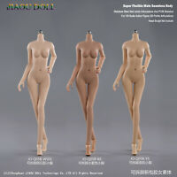 1/6 Little Breast Young Girl Body JIAOU Suntan/Pale/Tan Skin Rubber Figure Doll