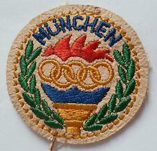 Ancien PATCH ECUSSON INSIGNE JEUX OLYMPIQUES MUNCHEN 1972 OLYMPIC GAME ORIGINAL