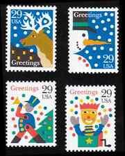 Scott # 2791-2794 - 1993 29¢ Christmas Designs - Set 4 - MNH Fine/VFine
