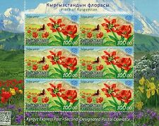 Kyrgyzstan KEP 2016 MNH Flora Greig's Tulip 6v M/S Tulips Flowers Stamps