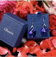 SWAROVSKI Crystal Earrings, Sterling Silver Drop Hearts RRP £45