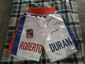 Roberto Duran Signed Autographed Trunks JSA COA