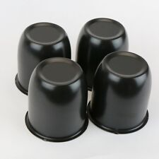 "4 Wheel Rims Black Center Caps For 3.30"" Center Bore Weld Draglite"