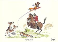 """Bryn Parry """"Flying Fox"""" Caza / Caballo tarjeta de felicitación y sobre, en blanco en el interior"""