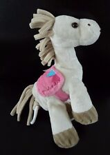 K6- DOUDOU MUSICAL CHEVAL PERICLES BALADE ECRU BEIGE SELLE ROSE HT 24 CMS - TTBE