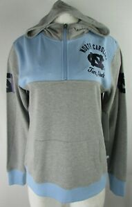 North Carolina Tar Heels Women's Pullover Hoodie in Gray & Light Blue by Touch