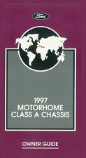 1997 Ford Class A Motorhome Chassis Owners Manual User Guide Reference Book