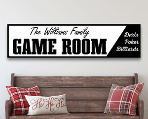 GAME ROOM Sign Billiards Darts Poker Man Cave Home Rustic Metal Wall Decor NEW