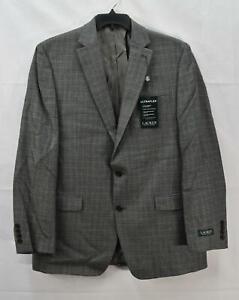 Ralph Lauren Men's Wool Blend Plaid Suit Jacket, Gray, Size 44S, $450, NwT