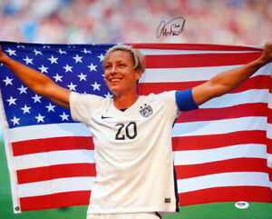 ABBY WAMBACH AUTHENTIC AUTOGRAPHED SIGNED 16X20 PHOTO TEAM USA PSA/DNA 103200