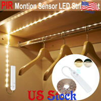 Smart PIR Motion Sensor LED Strip Light Closet Stairs Kitchen Cabinet Lamp Tape
