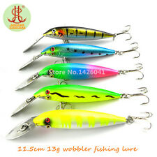 Lot 5pcs Kinds of Fishing Lures Crankbaits Hooks Minnow Bass Bass fishing tackle