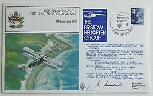Signed FDC RAF 60th Anniversary of the 1st UK International air mail Bargain