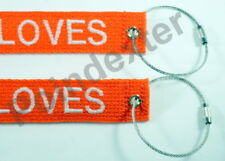 """1"""" Nylon Luggage Tag, SS, Double Sided, Personalized, Embroidered, Color Choice"""