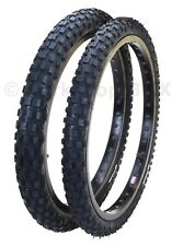 """Cheng Shin C183 KNOBBY old school BMX bicycle tires 20"""" STAGGERED (PAIR) BLACK"""