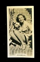 Annabella - Cigarette Card Carreras Film & Stage Beauties (1939) Collectable