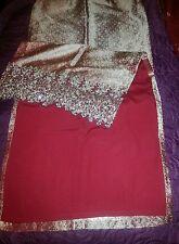 Indian Bridal wedding party choli Lehenga  Bollywood Designer 4 pieces Red/gold