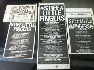 STIFF LITTLE FINGERS - SLF TOUR DATES 1980 1987 1988 1990 advert / fridge magnet