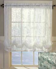 "Ivory Lace Balloon Shade Curtain 60"" W x 61"" L Kitchen Living Room Home Decor"