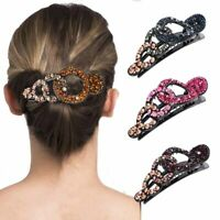 Women's Crystal Hair Claw Clip Large Size Hairpin Ladies Acrylic Hairgrip