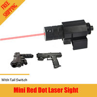 Tactical Red Laser Sight Dot Scope for Pistol Rifle Hunting Switch Barrel Mount