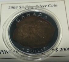 Canada 4 dollar 2009 Tyrannosaurus Rex dinosaur  Silver box COA